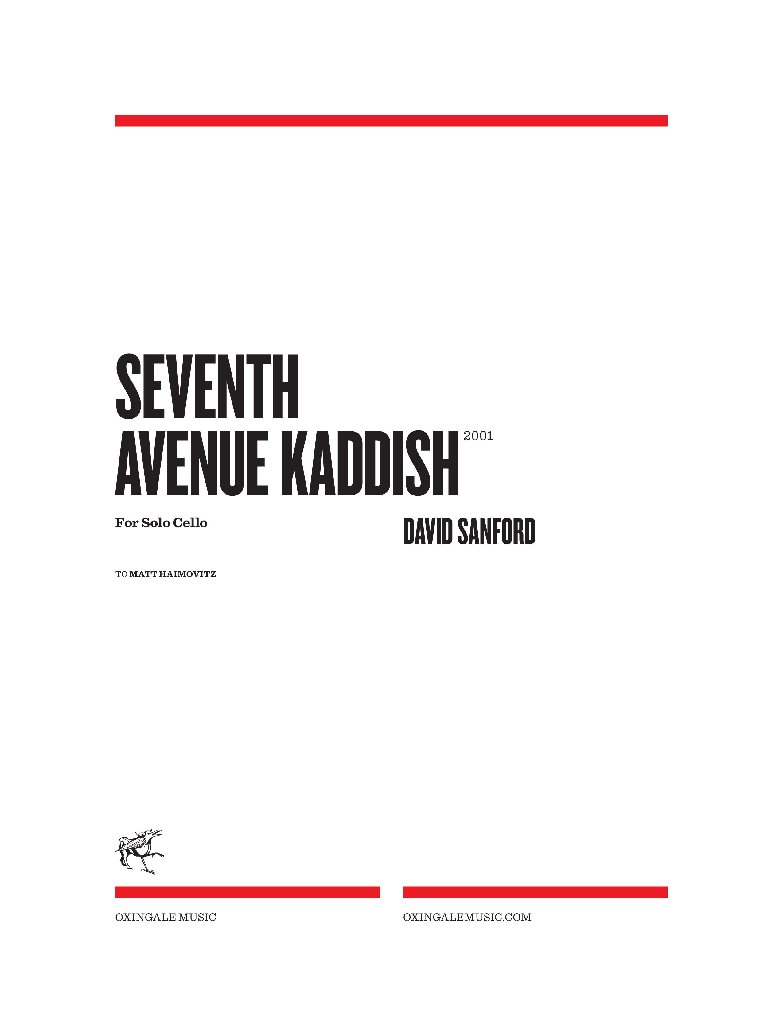 Seventh Avenue Kaddish Oxingale Music